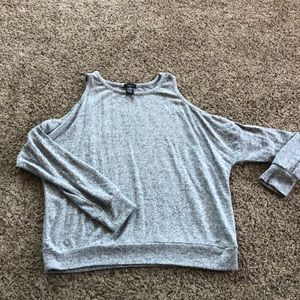 Sweater with cut out shoulders